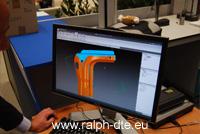 Riproduzione dell'oggetto fisico comparata con il modello CAD