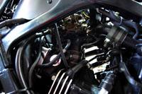 Collettori di aspirazione e parte inferiore del carburatore moto turbo artigianale