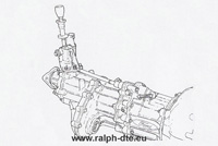 Cambio da competizione a 7 marce e differenziale centrale Ford Escort RS Cosworth