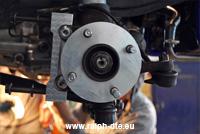 Distanziale ruota e adattatore pinza lavorati alle macchine utensili