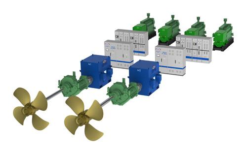 Soluzione ibrida Diesel Elettrica per aumentare l'autonomia delle navi