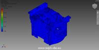 Approssimazione dell'oggetto mediante mesh - Testata motore