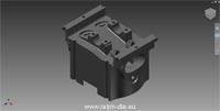 Esempio di oggetto da analizzare riprodotto mediante CAD 3D - Testata motore